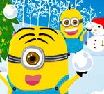 Minions Christmas Snowball Wars